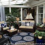 Nautical Decor & Tablescape for a 3-Season Porch