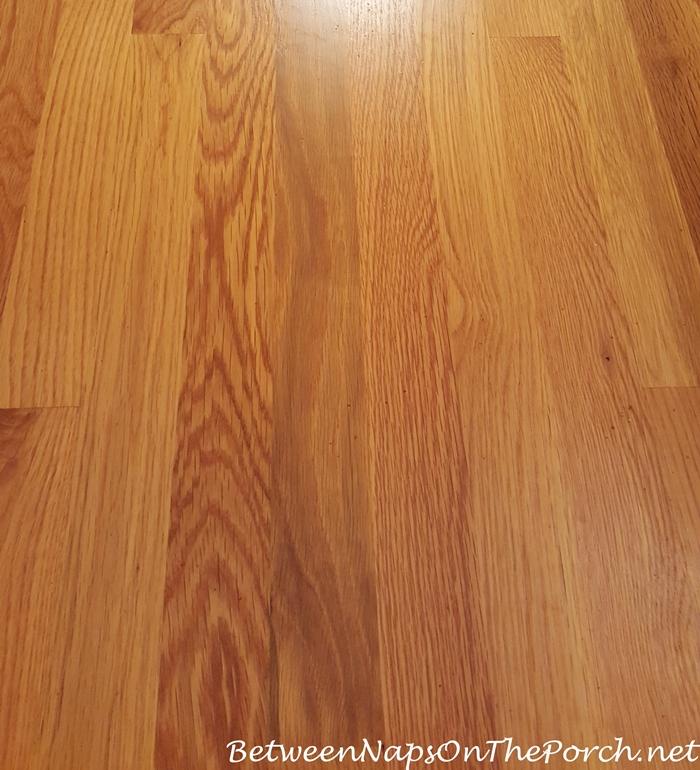 Latex Backing Stuck on Hardwood