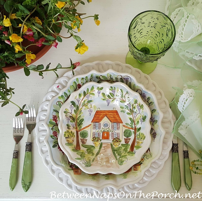 Ma Maison in a Spring Summer Table Setting