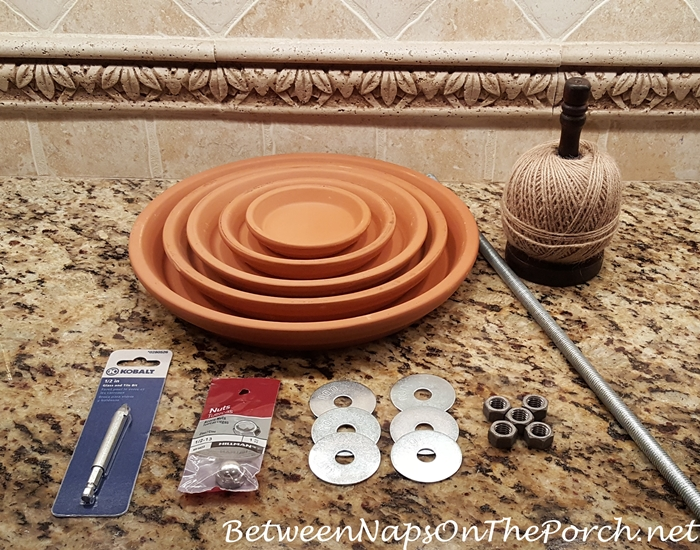 Make a Tiered Planter Stand with Clay Saucers