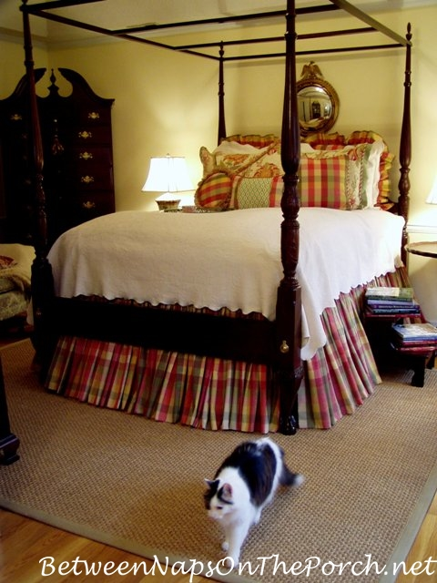 Master Bedroom with Sea Grass Rug and Summerton Bedding
