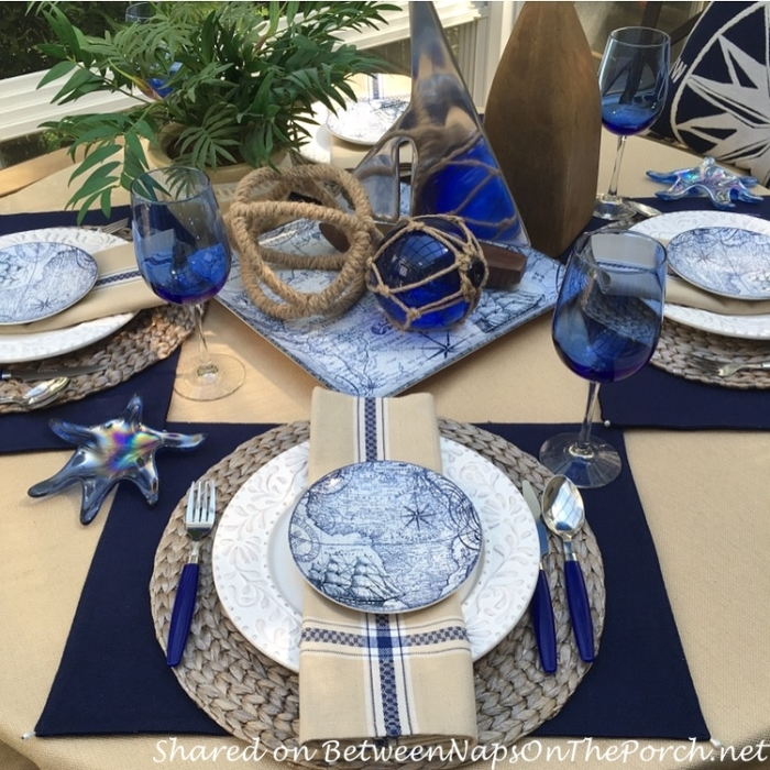 Nautical Summer Table Setting