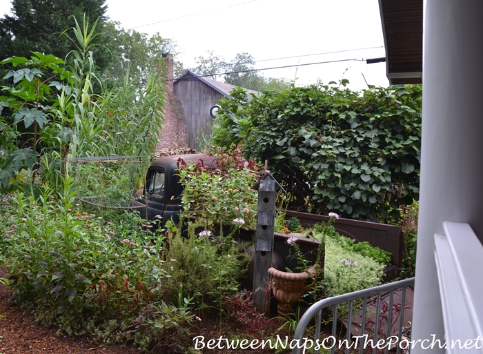 Old Truck in Garden of Greenwoods on Green Street Restaurant