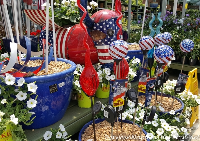 Patriotic Yard Art for Garden
