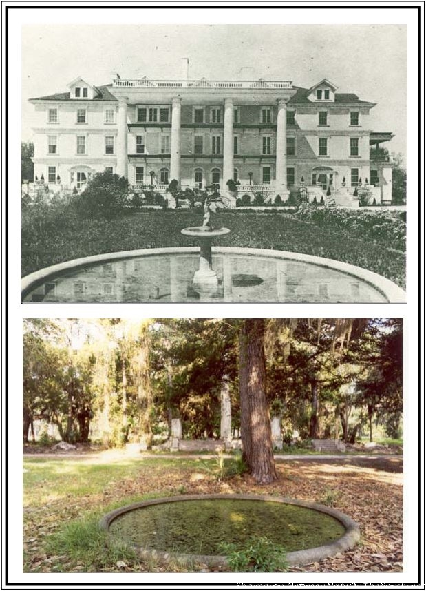 Richard Wilson's 1910 Mansion, Before & After Fire, Palmetto Bluff, Bluffton, SC_wm