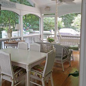 Screened Porch After Floor Revarnished