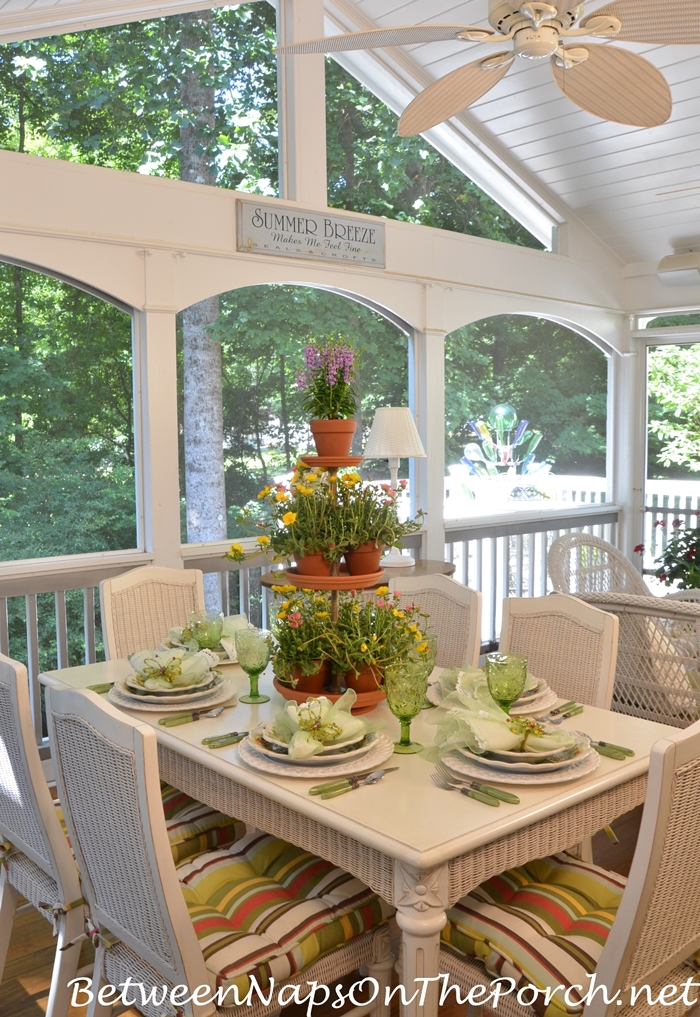Summer Dining on Screened Porch