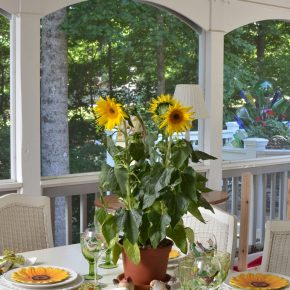 Sunflower Summer Tablescape on the Porch