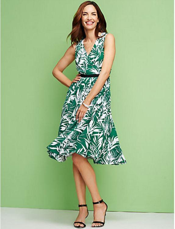 Talbots Tropical Palm Dress