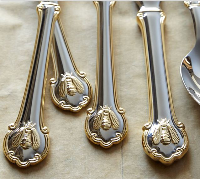 Bee Flatware with Gold Accents
