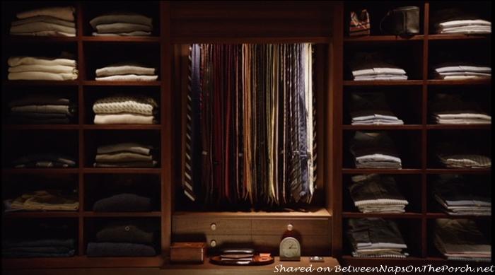 Ben's Closet in movie, The Intern