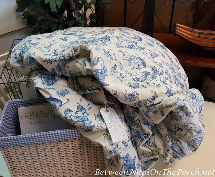 Blue, White Toile Draperies for Nursery