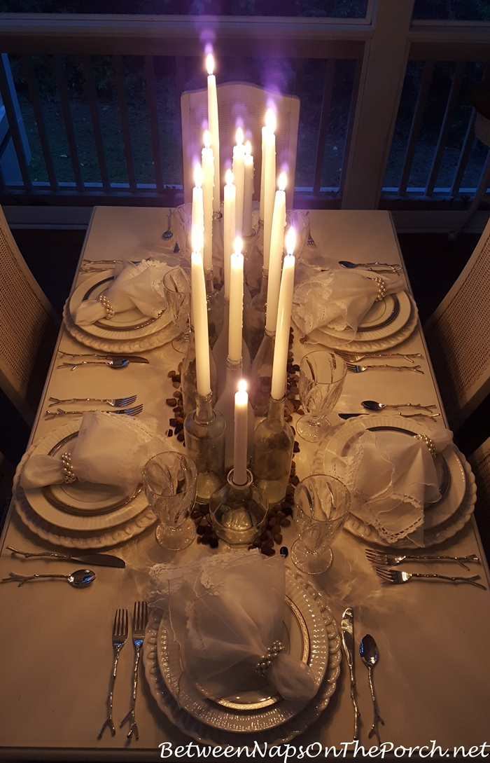 Candlelight Dining on a Summer Porch
