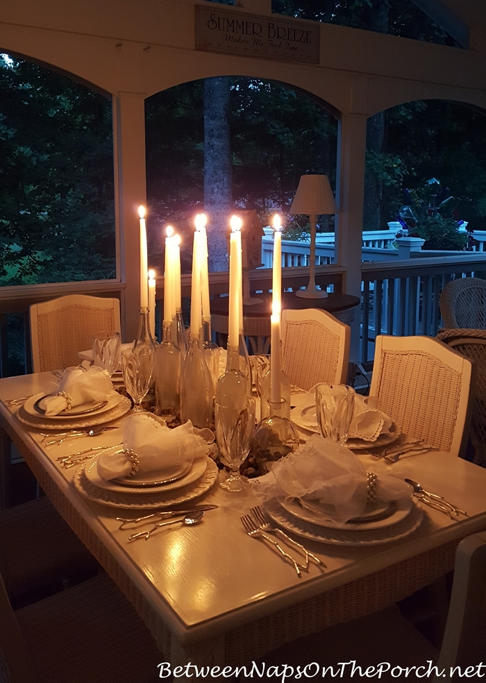Candlelit Table for Summer Dining