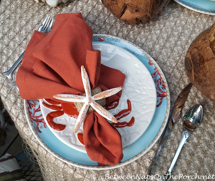 DIY Starfish Napkin Rings