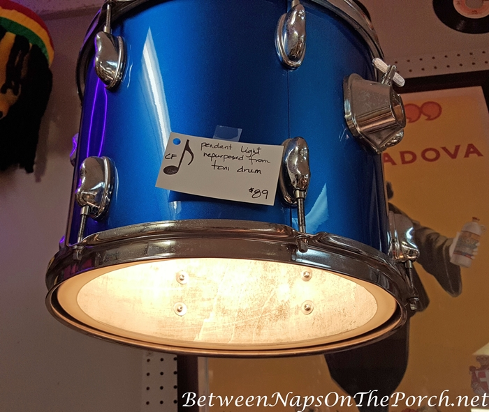 Drum Repurposed Into Pendent Light