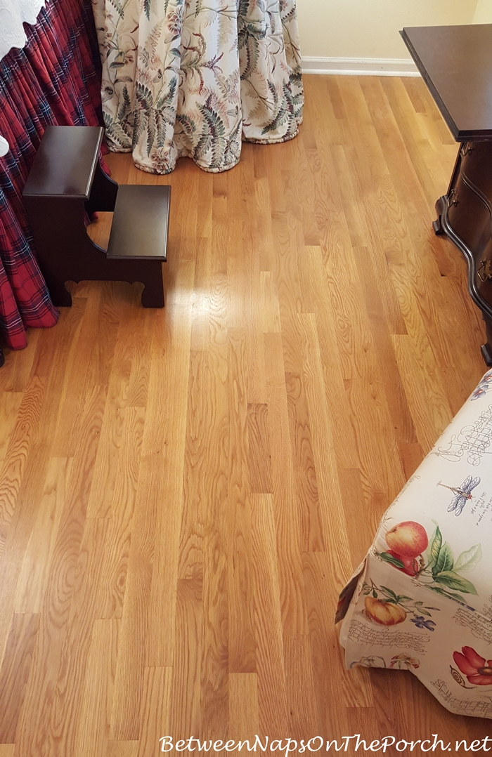 Hardwood Floors After Cleaning Rubber Backing of Rug Off Flooor