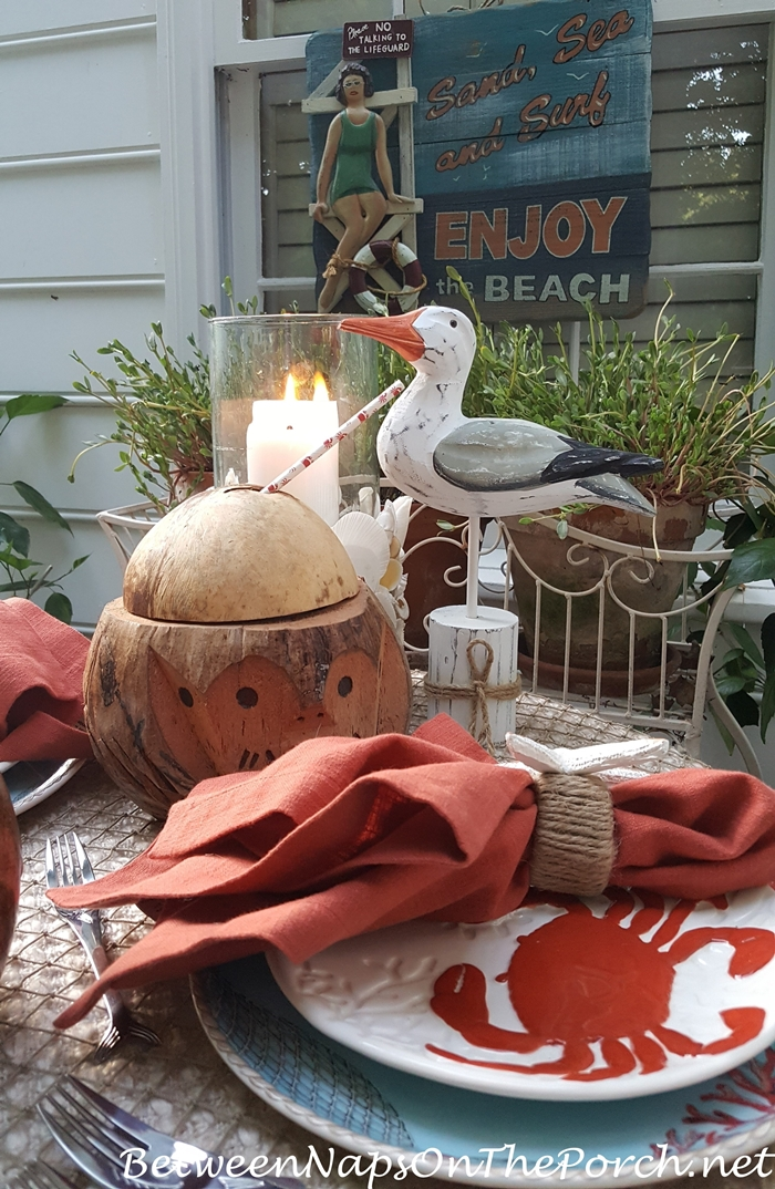 Nautical Beach Table for Two