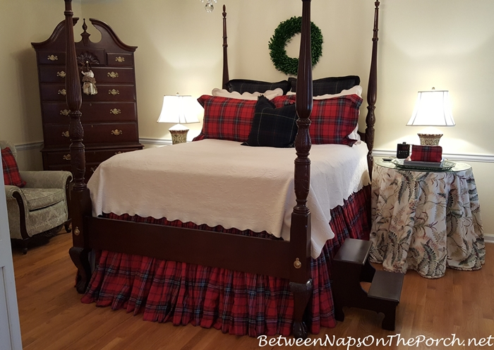 Plaid Tartan Bedding for the Master Bedroom