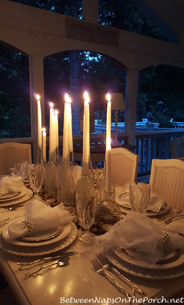 Porch Dining by Candlelight