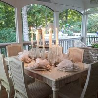 Romantic Table Setting on the Porch