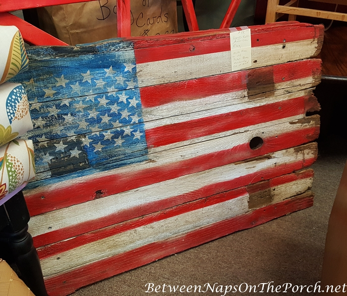 Rustic Flag Made from Old Boards