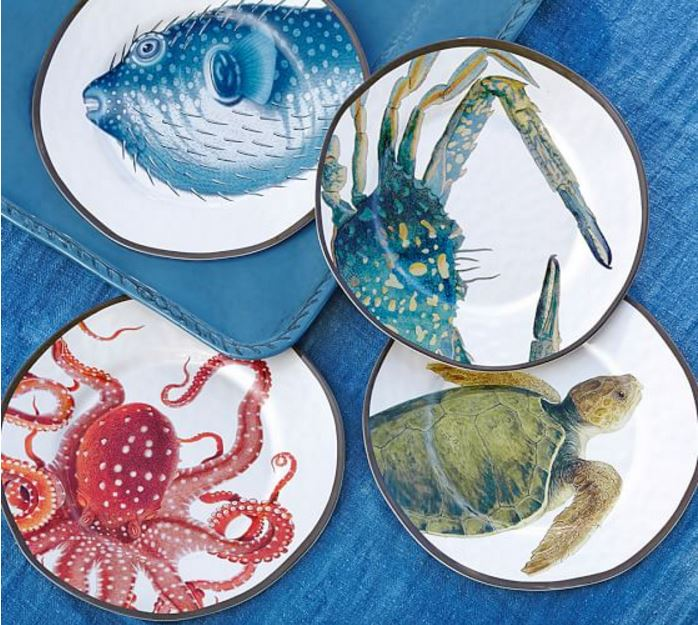 Sea Creature Plates for Summer Dining