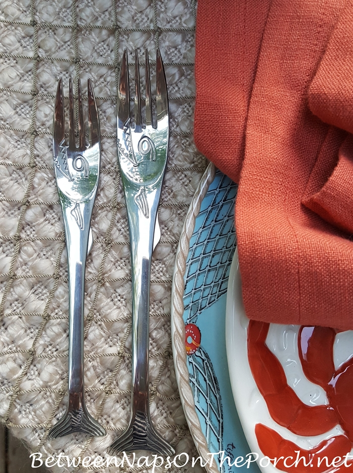 Shark Flatware for Beach or Lake House