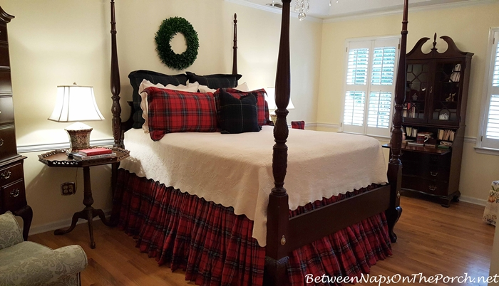 Tartan Plaid Bedding for a Master Bedroom
