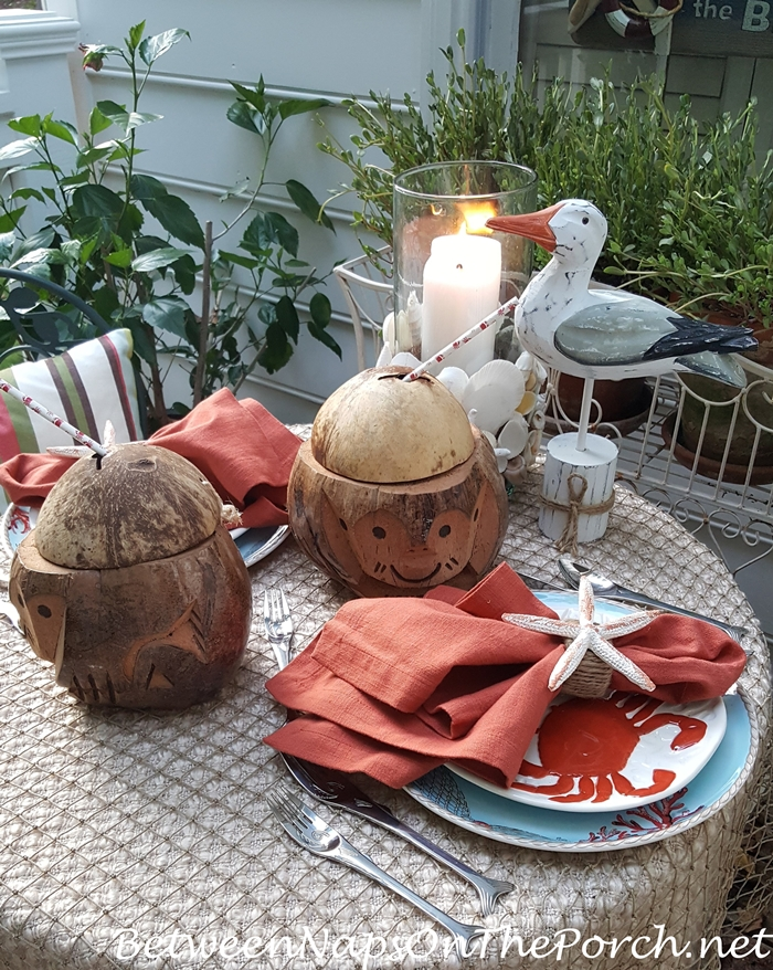 Whimsical Beach Themed Table for Two