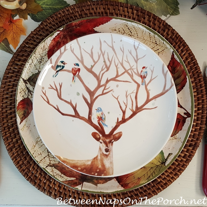 Deer with Birds in Antlers Plate