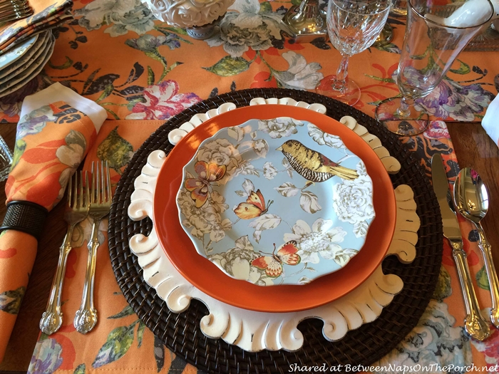 Elenore Salad Plate with Birds and Butterflies