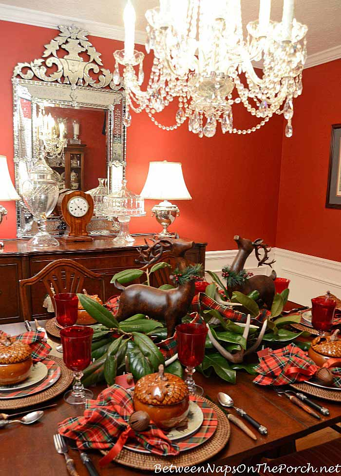 Fall Table with Acorn Tureens