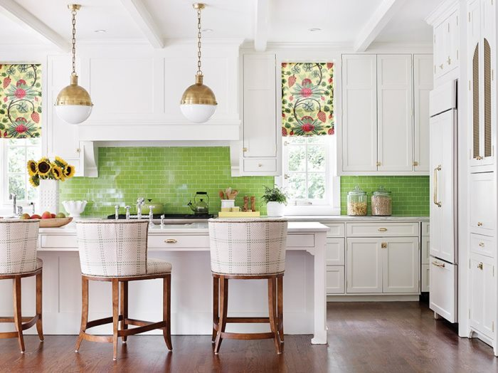 Green Backsplash for Kitchen