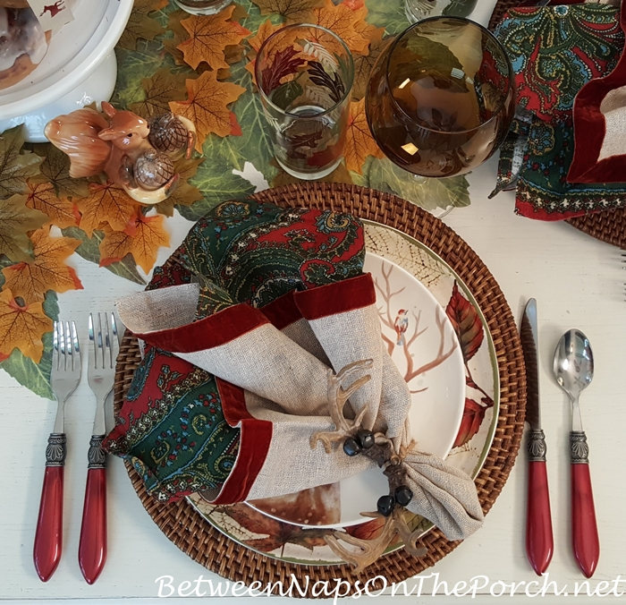 Red Flatware for Autumn Tables