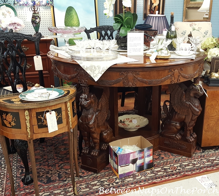Round Entrance Table with Griffin Pedestal