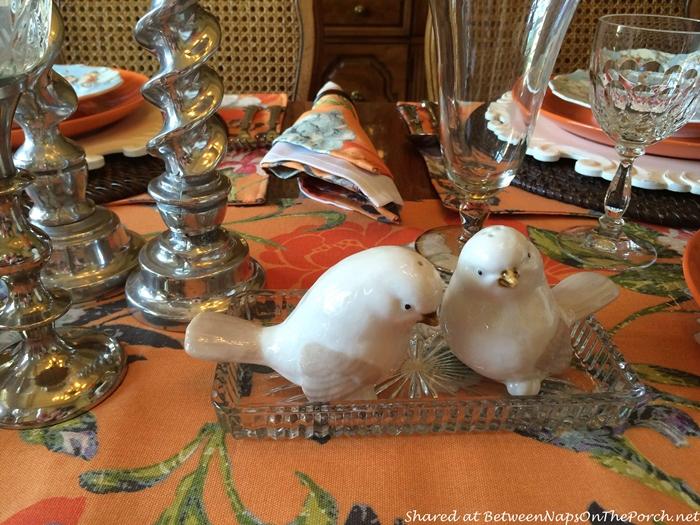 White Birdie Salt & Pepper Shakers