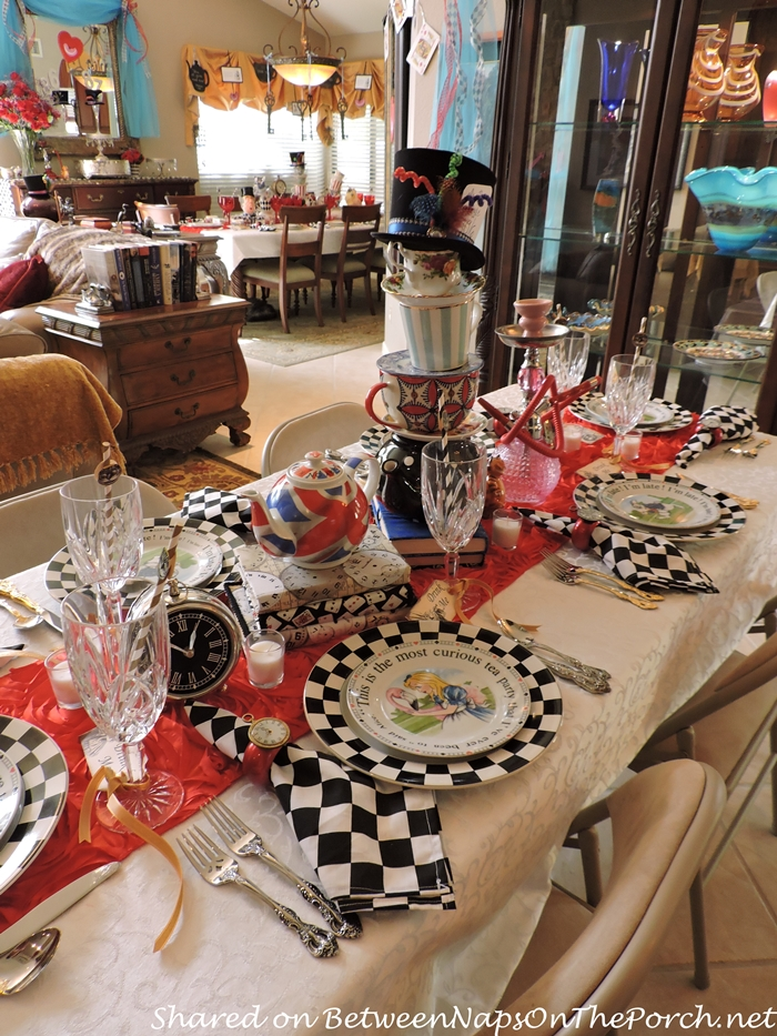 Alice in Wonderland Mad Hatter Tablescape