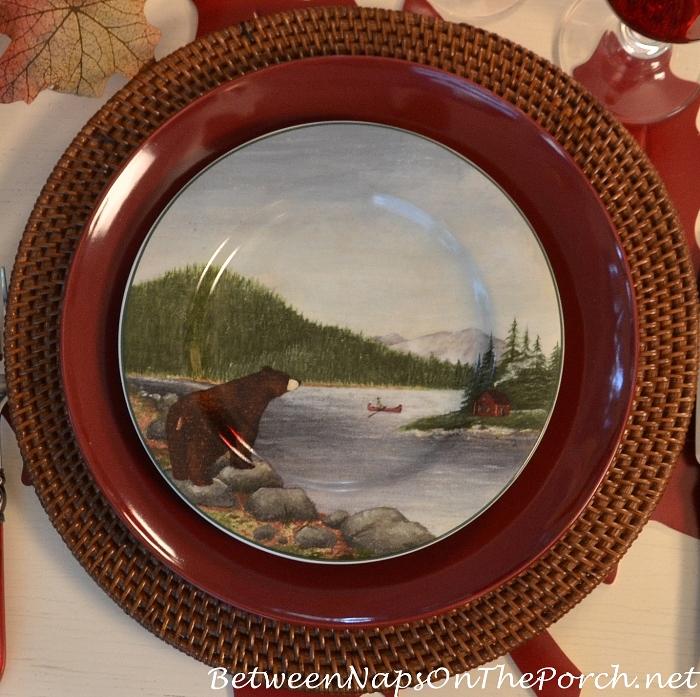 bear-plate-northwoods-dinnerware