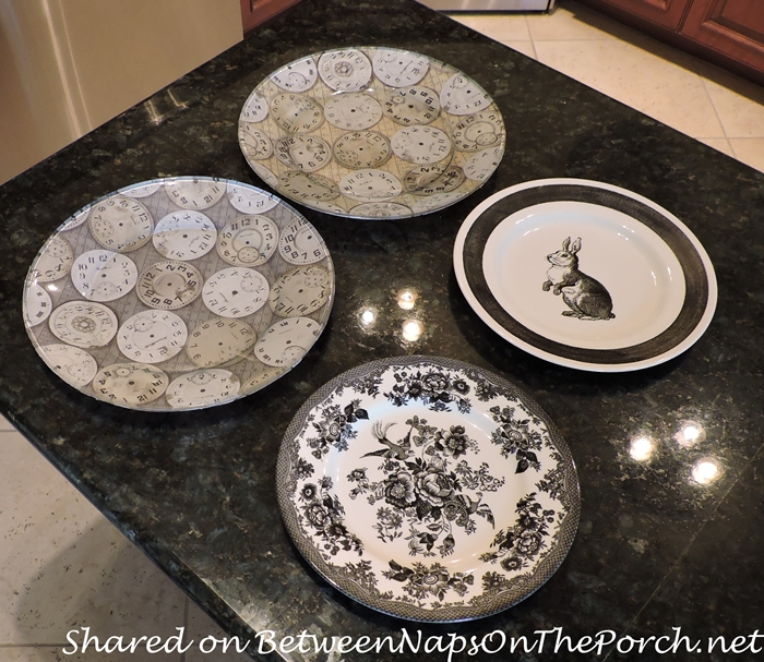 DIY Clock Charger Plates for Alice in Wonderland Party