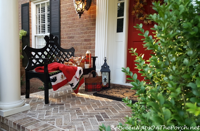 Decorate with Tartan for a Fall Porch