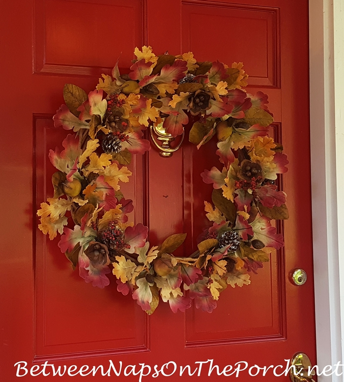 Fall Wreath for a Red Door