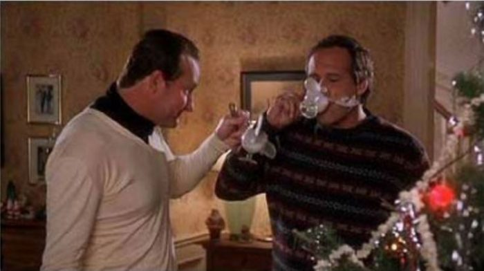 Moose Mugs Scene in Movie, Christmas Vacation