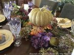 Fall Tablescape with a Beautiful Hydrangea Blossom Centerpiece