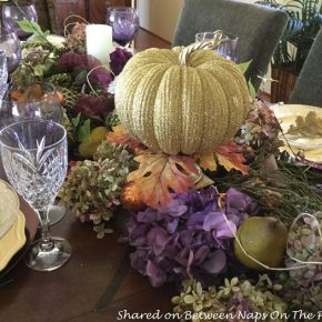 pumpkin-hydrangea-centerpiece