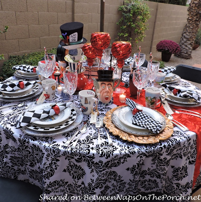 Whimsical Alice in Wonderland Mad Hatter Tea Party & Dinner