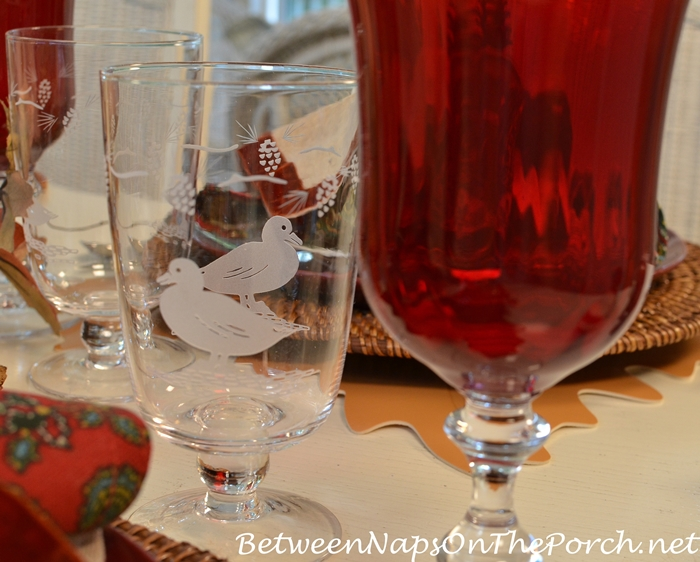 woodland-glassware-with-duck