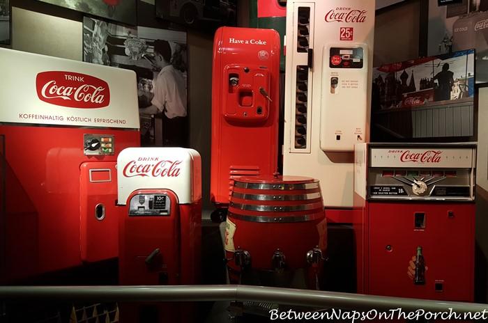 antiques coca cola machine