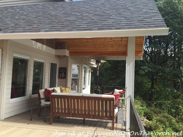 Deck makeover a covered porch room for dining and for Balcony covering nets