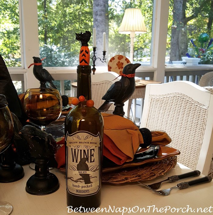 decorate-a-wine-bottle-with-labels-for-halloween